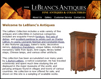 LeBlancs Antiques...worldwide collection of antiques and collectibles...on the web